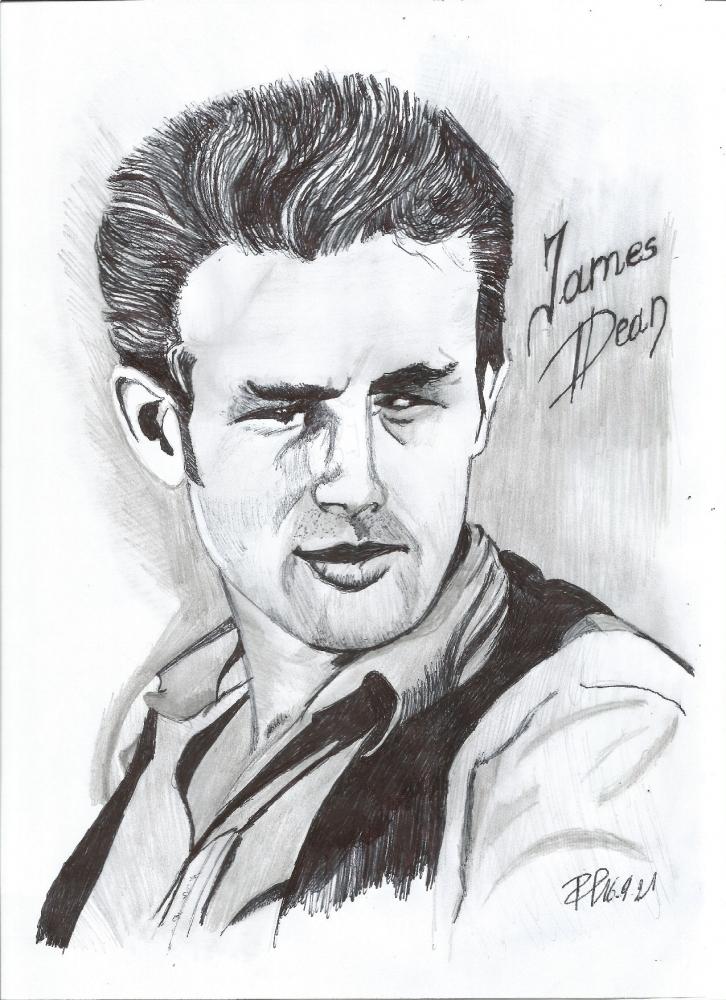 James Dean by Patoux